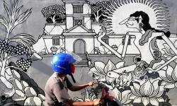 In Picture: Mural Hiasi Komplek Wisata Tamansari