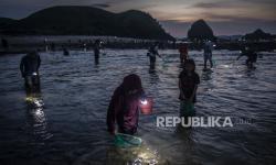 In Picture: Tradisi Bau Nyale di Pantai Seger Mandalika, Lombok