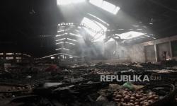 Kebakaran Pasar Wage Disebabkan Korsleting Listrik