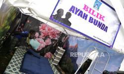 In Picture: Mengintip Bilik Ayah Bunda di Pengungsian Gunung Merapi