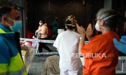 In Picture: Aktivitas RS Lapangan di Spanyol Tangani Pasien Corona