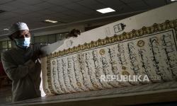 In Picture: Koleksi Mushaf Alquran Raksasa di Perpustakaan JIC