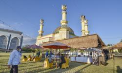 150 Petugas Awasi Prokes Sholat Ied di Islamic Center NTB
