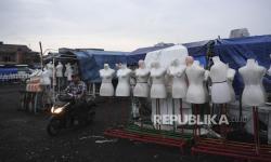 In Picture: Imbas Pandemi Covid-19 Pedagang Pasar Tasik Tidak Berjualan
