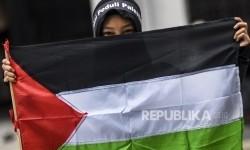 HMI MPO Serang Gelar Aksi Kecam Serangan Israel ke Palestina