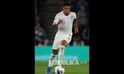 Jadon Sancho menjadi starter saat Inggris menghadapi Ukraina di perempat final Euro 2020.
