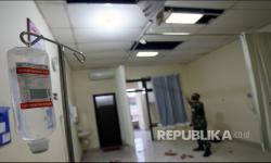 Ruang Perawatan RSUD Mardi Waluyo Blitar Rusak Akibat Gempa