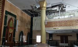 Atap Plafon Masjid Islamic Center Indramayu Ambruk
