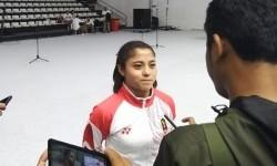 Atlet karate DKI Jakarta Maya Sheva.