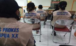 Badan Nasional Penanggulangan Bencana dan Satuan Tugas Penanganan Covid-19 Nasional telah melaksanakan kegiatan peningkatan kapasitas relawan prokes untuk mendukung PON XX di Papua. Kegiatan ini diselenggarakan di kantor Badan Penanggulangan Bencana Daerah (BPBD) Kabupaten Mimika pada hari ini, Sabtu (25/9).
