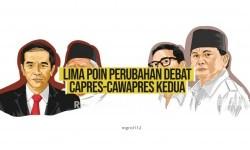 5 Poin Perubahan Debat Capres-Cawapres Kedua