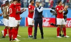 Gareth Southgate (tengah) bersama tim nasional Inggris.  (ilustrasi)