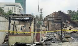 Lokasi Kebakaran Belakang Sency Dipasang Garis Polisi
