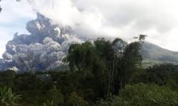 Empat Kecamatan Terdampak Erupsi Gunung Sinabung