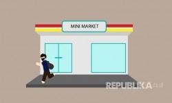 Perampok Berjaket Ojol Gasak Minimarket di Bekasi