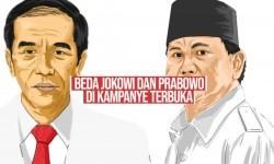 Beda Jokowi dan Prabowo di Kampanye Terbuka