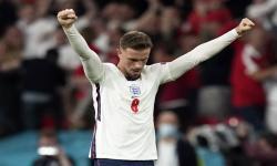 Ekspresi Jordan Henderson setelah Inggris mengalahkan Denmark di semifinal Euro 2020.