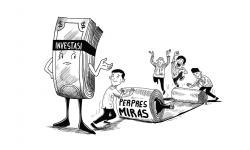 Karikatur opini 'Investasi Miras'