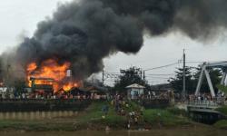 21 Kamar Kontrakan Terbakar di Benhil, Satu Warga Cedera