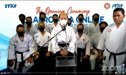Kebersamaan Landasi Karate Tradisional Afro-Asia Online 2020