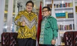 Airlangga-Cak Imin Klaim tak Bahas Politik Saat Jalan Pagi