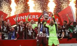In Picture: Leicester Raih Gelar Juara Piala FA untuk Pertama Kalinya