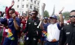 Kemeriahan Kirab Obor Asian Games di Selatan Jakarta