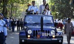 Kemeriahan Kirab Obor Asian Games di Yogyakarta