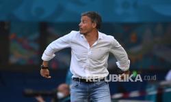 Pelatih Spanyol Luis Enrique.