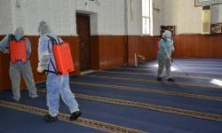 Kirgistan Mulai Penyemprotan Masjid Besar-besaran.