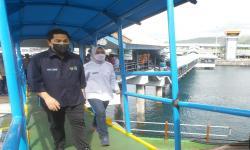 Erick Tinjau Penerapan PeduliLindungi di Pelabuhan Ketapang