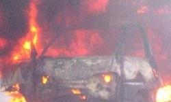 Mobil Terbakar di Kebayoran Baru