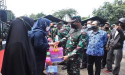 Pangdam Siliwangi Tinjau Vaksinasi di Kampung Halaman