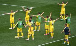 Pemain Ukraina (ilustrasi).  Ukraina akan menghadapi Austria pada laga runner-up Grup D Euro 2020.