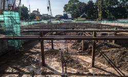 MRT Tanam 252 Pohon Terdampak Proyek Stasiun Glodok-Kota