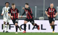 AC Milan Unggul 1-0 Atas Juve di Babak Pertama