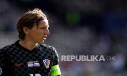 Kapten Kroasia Luka Modric.