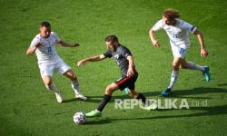 In Picture: Kroasia Bermain Imbang Atas Ceko 1-1