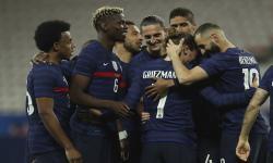 Para pemain timnas Prancis (ilustrasi). Gary Neville menjagokan Prancis juara Euro 2020.
