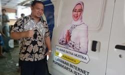 Mobil Internet Purwakarta Keliling Desa Beri Wifi Gratis