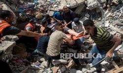 In Picture: Proses Evakuasi Warga Gaza, Korban Serangan Udara Israel
