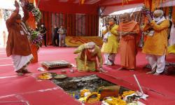 Pidato Modi Kala Pembangunan Kuil  di Bekas Masjid Babri