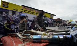 Puluhan Motor & Knalpot Racing Dimusnahkan di Padang Panjang