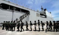 In Picture: Pemberangkatan 450 Prajurit Raider TNI ke Papua