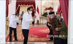 In Picture: Amien Rais Temui Presiden Joko Widodo di Istana