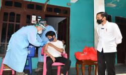 Jokowi Apresiasi Kecepatan Vaksinasi di Banten
