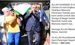 Erdogan Mengangkat Keranda Jenazah Muazin Masjid Istanbul?