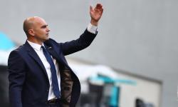Reaksi pelatih kepala Belgia Roberto Martinez selama pertandingan sepak bola babak penyisihan grup B UEFA EURO 2020 antara Denmark dan Belgia di Kopenhagen, Denmark, 17 Juni 2021.Roberto Martinze memuji mentalitas anak asuhnya ketika melawan Denmark