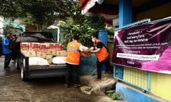 Rumah Zakat Salurkan Bantuan yang Digalang Raffi Ahmad