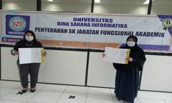 Ratusan Dosen UBSI Terima SK Jabatan Fungsional